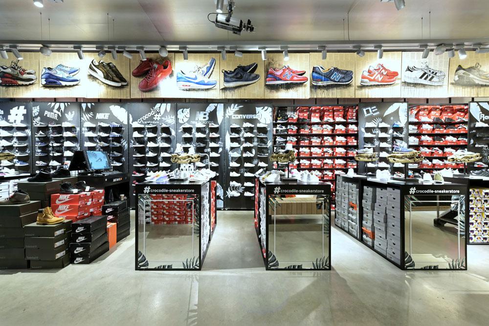 Erdgeschoss Sneakerstore Frontansicht