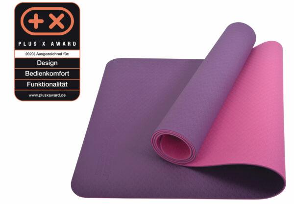 Schildkröt Fitness Yogamatte bicolor purple-pink