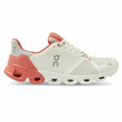 On Cloudflyer White | Coral Damen